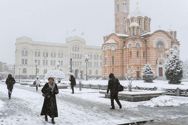 Hram Hrista Spasitelja zimi